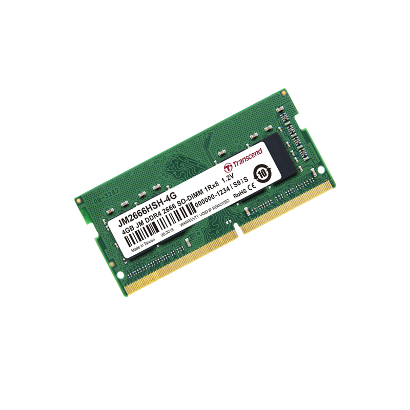 Transcend 4GB JetRam DDR4 2666 MHz CL19 SO-DIMM Memory